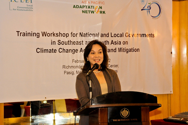 Sen. Legarda during the Training Workshop for National and Local Governments in Southeast and South Asia on Climate Change Adapt