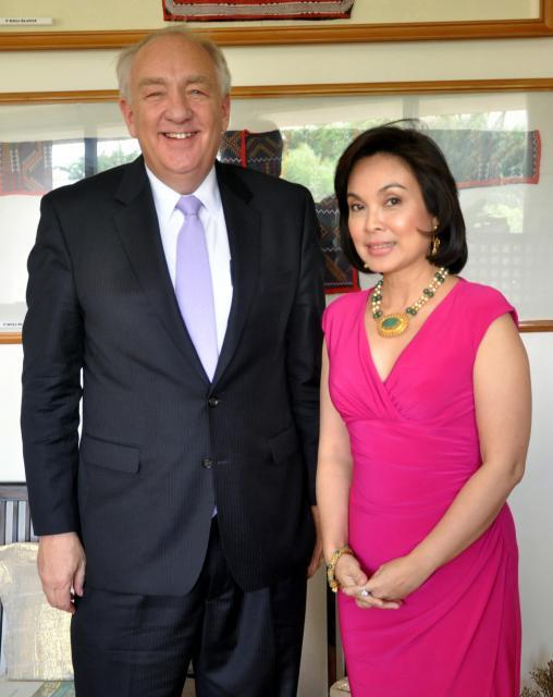 Sen. Loren with U.S. Ambassador Stephen Rapp