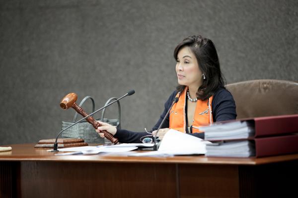 Senator Legarda as presiding officer
