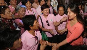 Senator Loren Legarda in Bohol