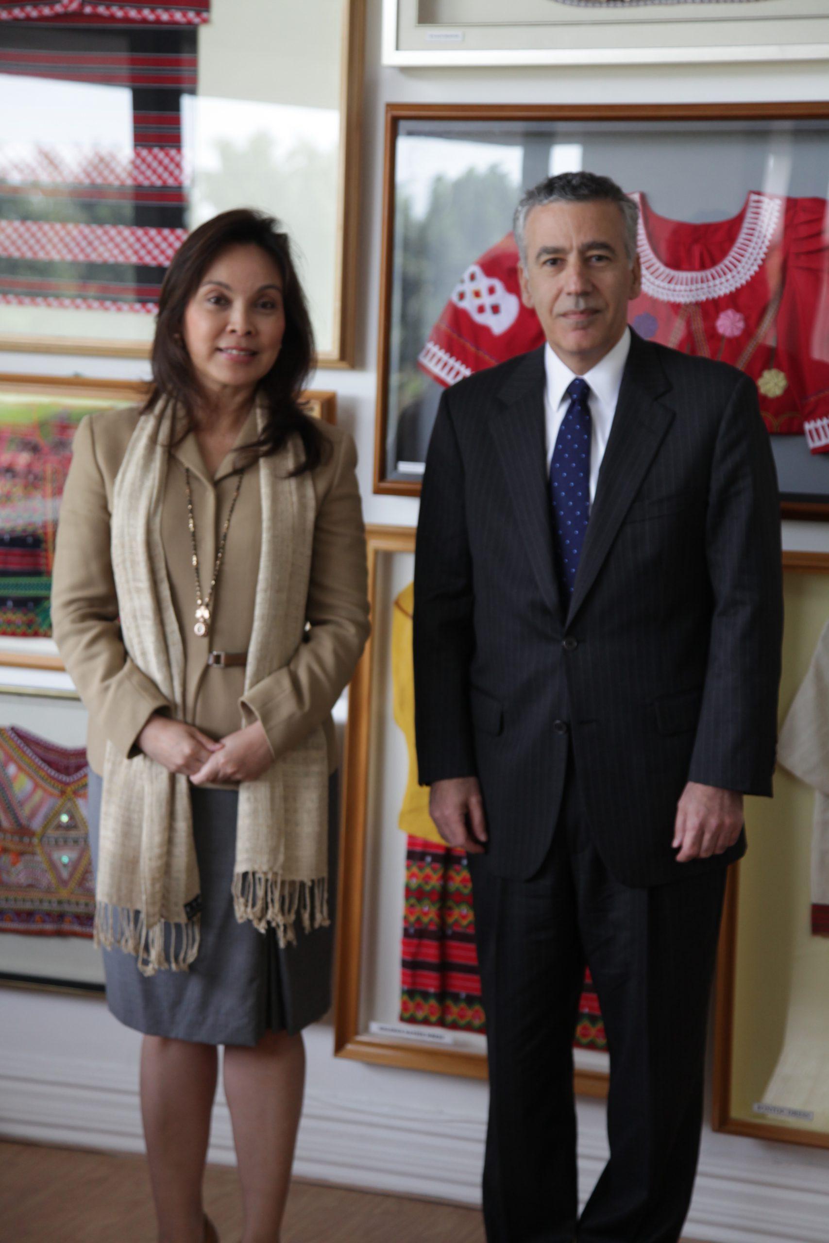 Senator Legarda with US Ambassador Philip S. Goldberg