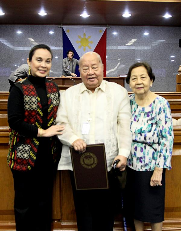 Legarda honors National Artist F. Sionil Jose through S.R. 1045