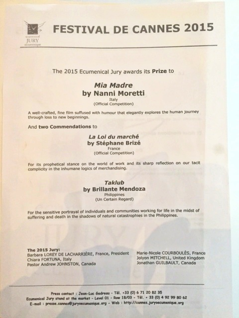 'Taklub' Wins Ecumenical Jury Special Mention