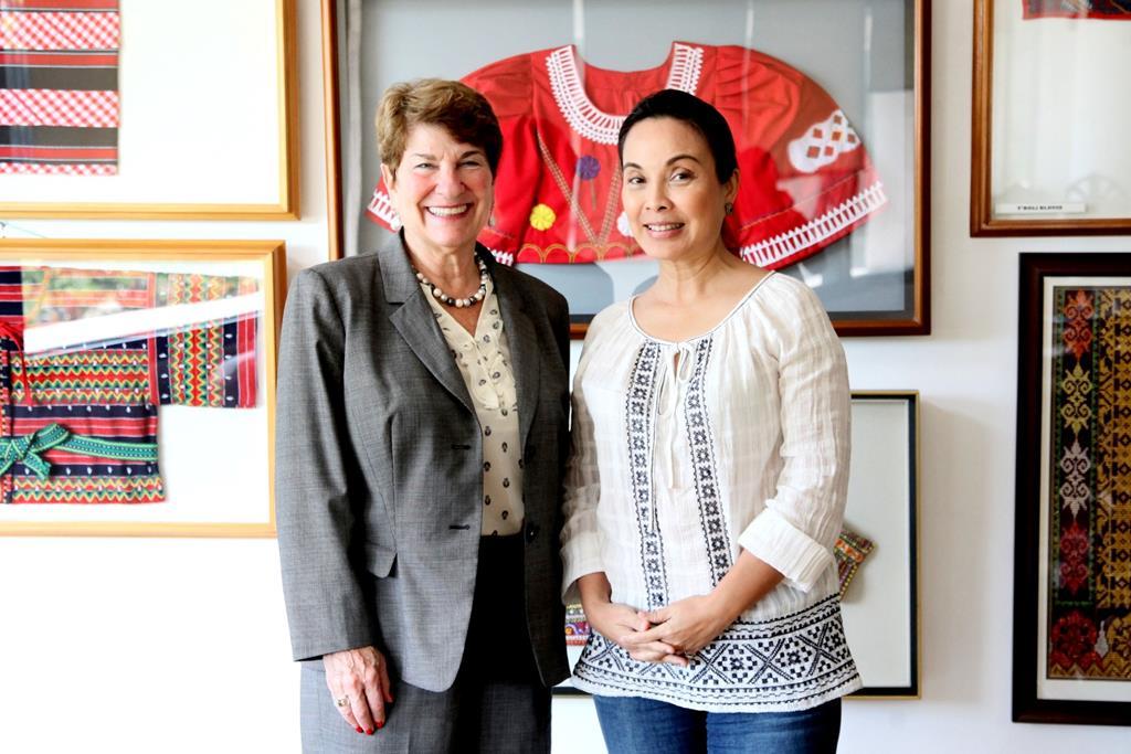 Senator Loren Legarda with Ambassador Susan Jacobs