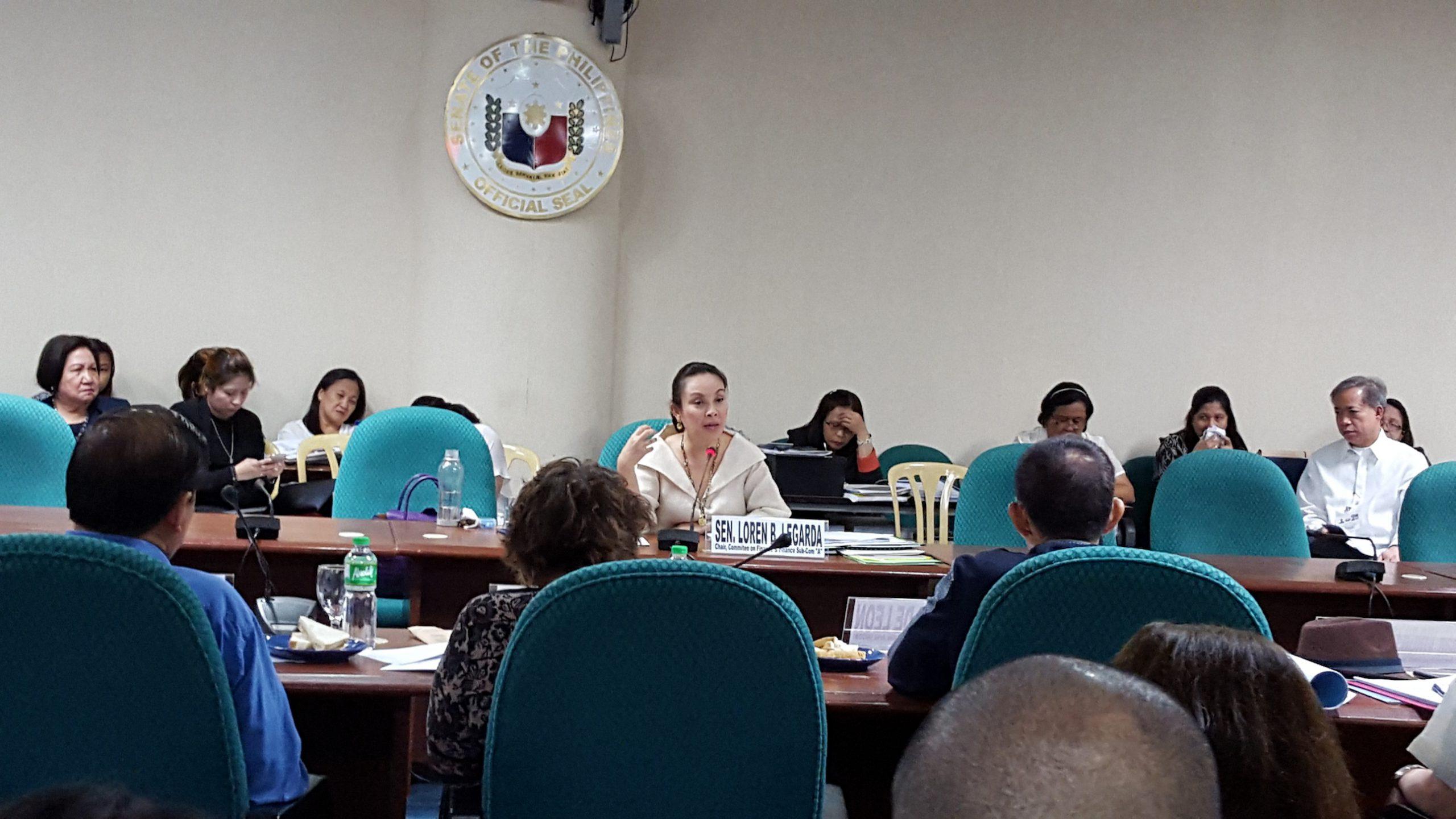 Budget hearing of cultural agencies