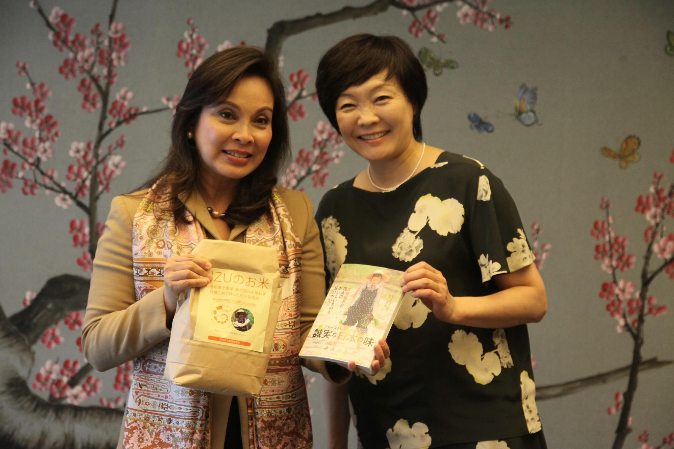 Sen. Legarda and Mrs. Abe at the APEC 2015 Forum