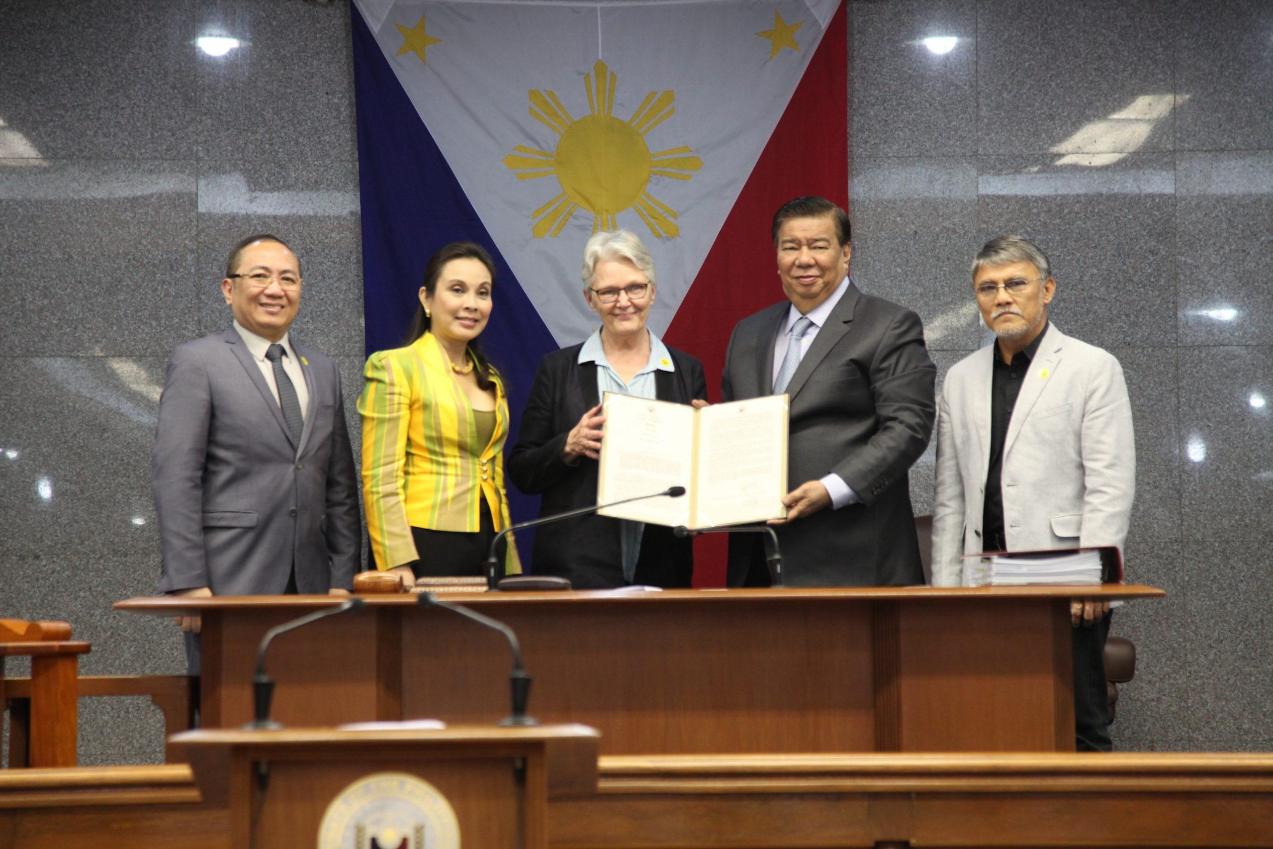 Senate Commends Former UNISDR Head, Ms. Margareta Wahlstrom