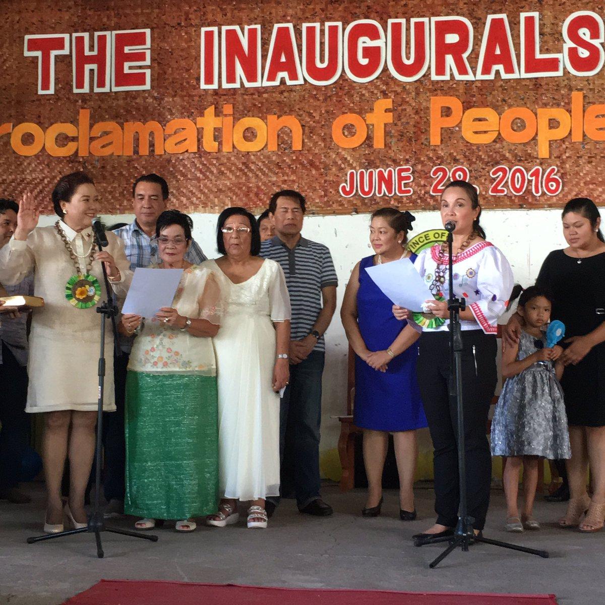 Senator Loren Legarda visits her Home Town Antique