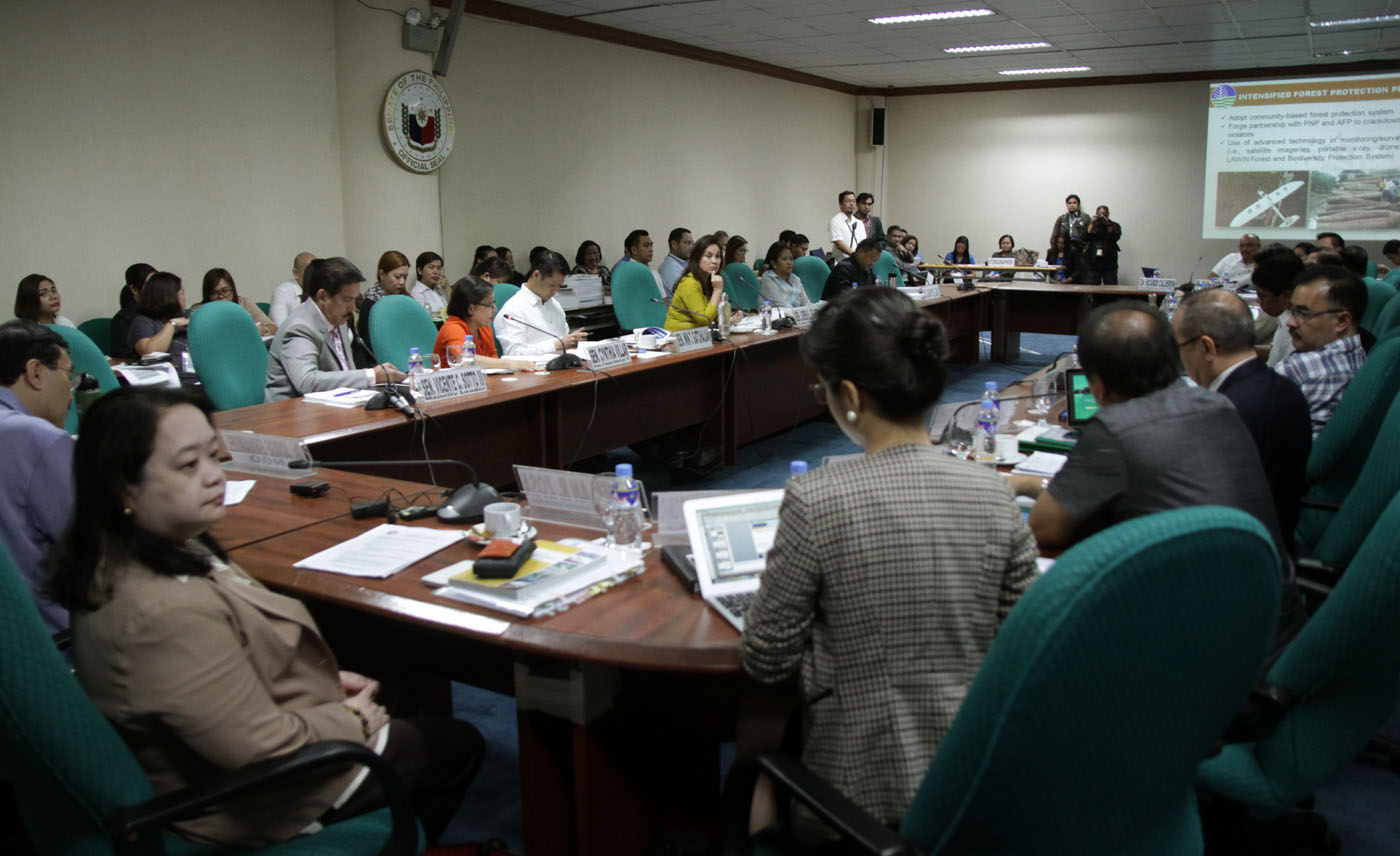 Proposed 2017 budget of the Department of Environment and Natural Resources (DENR) Hearing