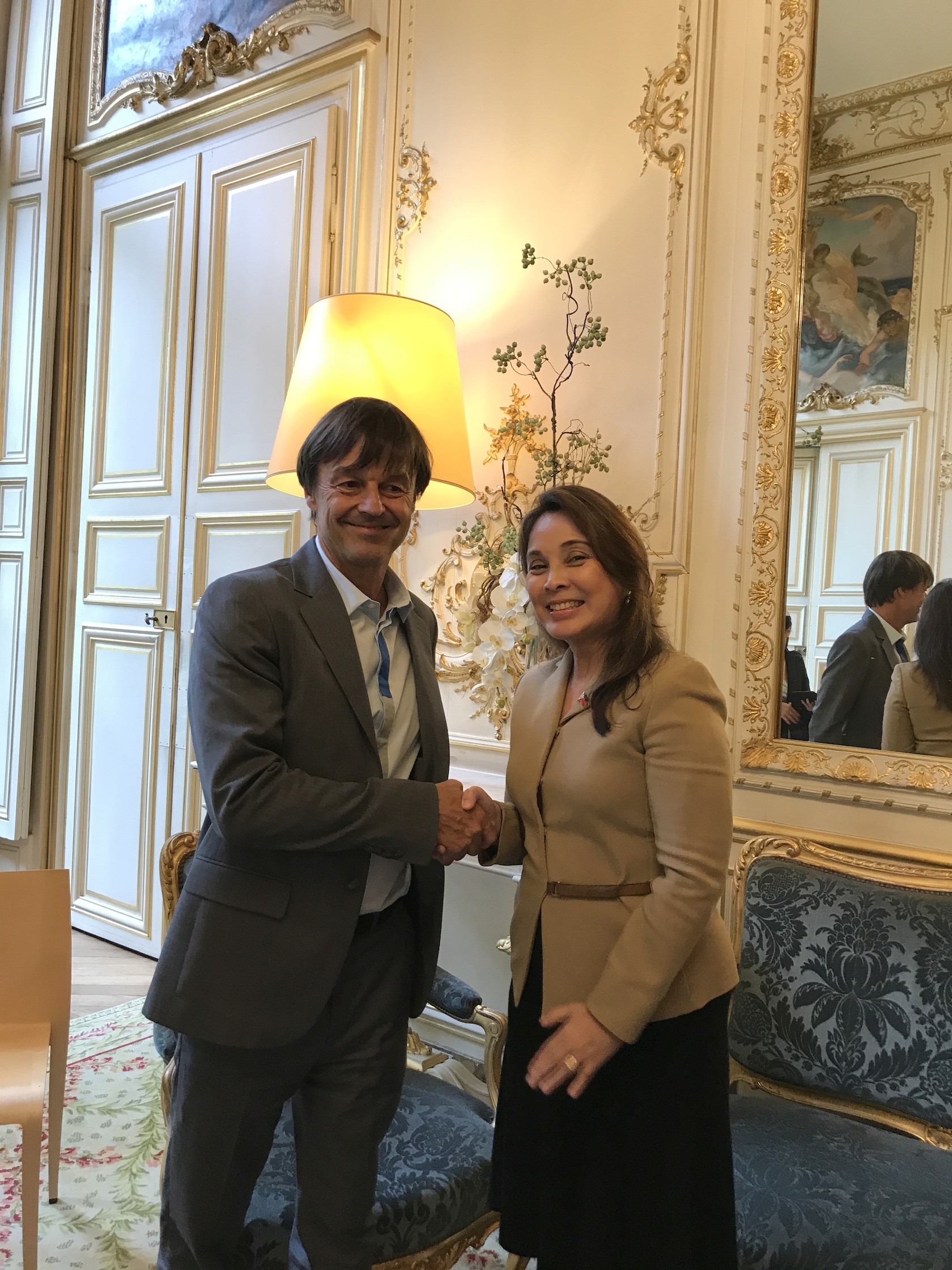 Meet with French Ecology Minister Nicolas Hulot
