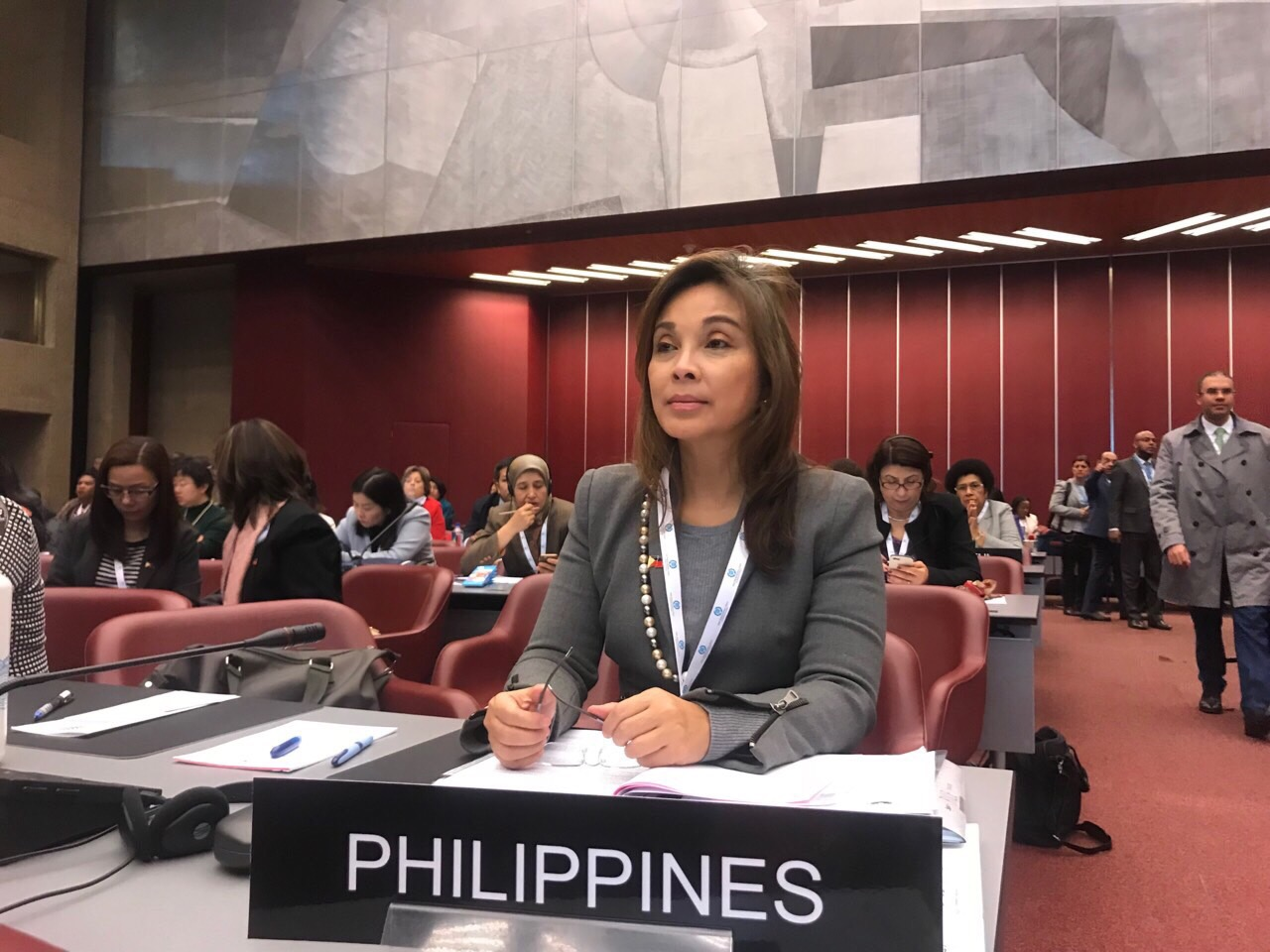 Legarda at the 138th Assembly of the Inter-Parliamentary Union (IPU) in Geneva, Switzerland