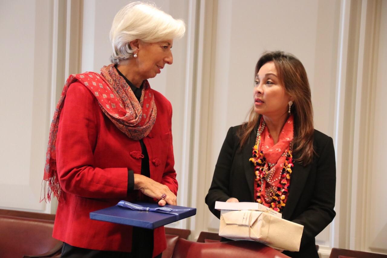 Senator Loren Legarda Meets IMF's Lagarde on PH-IMF Cooperation, Climate Change, Other Emerging Issues