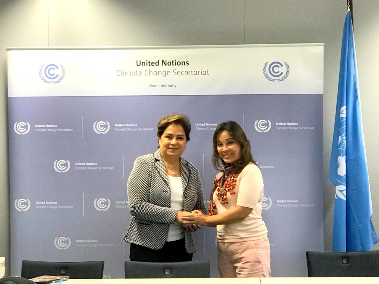Senator Loren Legarda meets with Patricia Espinosa, Executive Secretary of the United Nations Framework Convention on Climate Change (UNFCCC)